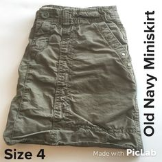 Old Navy Military Inspired Miniskirt Size 4 Skirt is 13 inches long and in great condition. Old Navy Skirts Mini