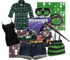 """Slytherin...But Also Irish"" by torrie619 ❤ liked on Polyvore"