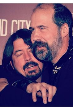 Dave Grohl and Krist Novoselic... image all the things these two have endured together...