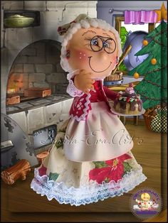 fofuchas-syritaeva-arts: Fofucha Señora Claus