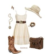 country dress and boots - Actually for Deana!!!
