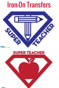 Teacher Appreciation Gift Ideas. Iron-on transfers for t-shirts (and maybe capes?).