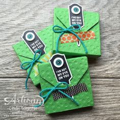 Treats made with Stake Your Claim Bundle and Envelope Punch Board ~ Cindy Schuster