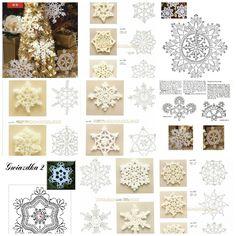 ergahandmade: Crochet Snowflakes + Diagrams Handarbeiten ☼ Crafts ☼ Labores  ✿❀.•°LaVidaColorá°•.❀✿  http://la-vida-colora.joomla.com