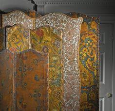 Victorian folding screens last quarter 19th century