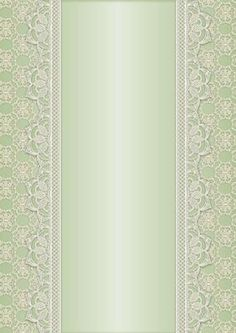 Vintage Lace Panel A4 Background Mint on Craftsuprint designed by Karen Adair - This is a pretty A4 sized background with a lace edged central panel. Great to line the outside of an A5 sized landscape tent card, or as an insert. Or whatever else you can think of! If you like this, check out my other designs, just click on my name. - Now available for download!