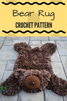Bear Rug Crochet Pattern | Cute Bear Rug Pattern, perfect for baby shower gift and woodland theme nursery| Instant Download #ad #bear #crochetpattern #babyshowergift #woodlandanimals
