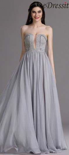 eDressit Sexy Strapless Evening Dress with Embroidery and Beads