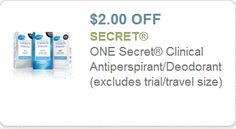 Coupon $2.00 off Secret Clinical Antiperspirant Deodorant http://azfreebies.net/coupon-2-00-off-secret-clinical-antiperspirant-deodorant/