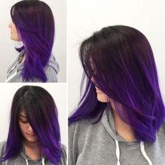 hair inspiration mid length The Top 10 Best Colors For Mid-Length Hair: Inspire You Hair Color Purple, Hair Dye Colors, Cool Hair Color, Ombre Purple Hair, Purple Balayage, Dye My Hair, New Hair, Mid Length Hair, Hair Highlights