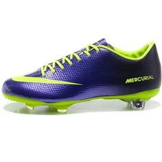 http://www.asneakers4u.com/ Nike Mercurial Vapor IX FG Cleats   Navy Purple Fluorescent Green