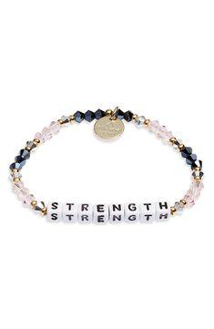 Little Words Project Strength Bracelet Letter Bead Bracelets, Making Bracelets With Beads, Name Bracelet, Chakra Bracelet, Love Bracelets, Jewelry Making, Beaded Bracelets, Diy Bracelet, Wristlets