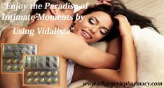 Vidalista encloses an FDA-approved generic drug called Tadalafil; it produces a sturdier erection in men by increasing the blood flow to the male genital area. Vidalista is also called as a weekend pill, as it contains Tadalafil, which makes a man sensually active for a long time. https://bit.ly/2JoLz3Q #sexualhealth #relationships #Vidalista #Healthcare