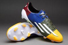 adidas Football Boots - adidas F50 adizero FG (Messi) - Firm Ground - Soccer Cleats - Neon Orange-Running White Ftw-Earth Green