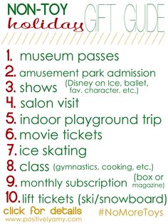 10 Non-Toy Gift Ideas for Kids Who's with me? Share if you're more interested . 10 Non-Toy Gift Ideas for Kids Who's with me? Share if you're more interested in spending time together than filling up. Christmas Gifts For Kids, Christmas Activities, Family Christmas, All Things Christmas, Holiday Fun, Holiday Gifts, Christmas Holidays, Christmas Crafts, Christmas Ideas