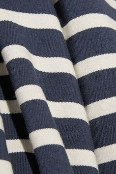 Marc Jacobs - Striped Cotton-jersey Top - Navy - x large