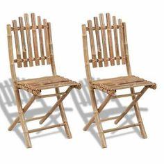 Berkfield Folding Garden Chairs 2 pcs Bamboo Bay Isle Home Folding Dining Chairs, Bamboo Dining Chairs, Folding Garden Chairs, Wood Folding Chair, Dining Arm Chair, Metal Chairs, Outdoor Chairs, Dining Set, Patio Dining