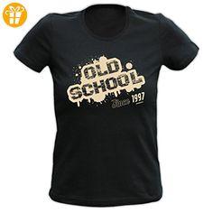 Volljährigkeit 18. Geburtstag 18 Jahre Geschenk Damen T-Shirt Shirt Old School Geburstagsgeschenk Birthday - Shirts zum 18 geburtstag (*Partner-Link)