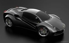 Ferrari Black Supercar Concept