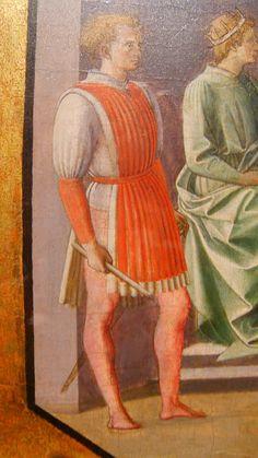 https://flic.kr/p/eKhY9R | 1445 Pesellino | PESELLINO Martirio San Cosma e Damiano 1445 Uffizi (particolare di una giornea)