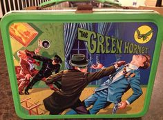 The Green Hornet Vintage Lunch Box  (1967 Antique Metal Lunchbox)