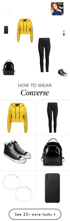 """""""Saturday"""" by synclairel on Polyvore featuring TWINTIP, Converse, Kendall + Kylie, MAC Cosmetics, Design Lab, Spring, cute, casual and ootd"""