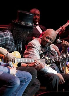 b b king pinterest | Slash & B.B. King