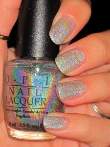 Opi Standing Room Only Holographic Nail Polish Iridescent