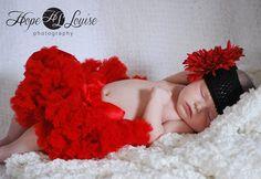 Red tutu newborn session!