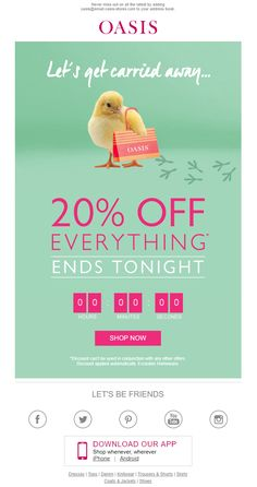 Easter sneak peek email from thorntons emailmarketing email easter offer email with countdown timer from oasis emailmarketing email marketing fashion negle Gallery