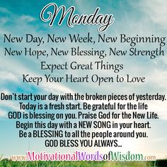 Discover and share Monday Prayer Quotes. Explore our collection of motivational and famous quotes by authors you know and love. Good Night Blessings, Morning Blessings, Monday Prayer, Daily Prayer, Blessed Quotes, Prayer Quotes, Morning Greetings Quotes, Good Morning Quotes, Motivational Words
