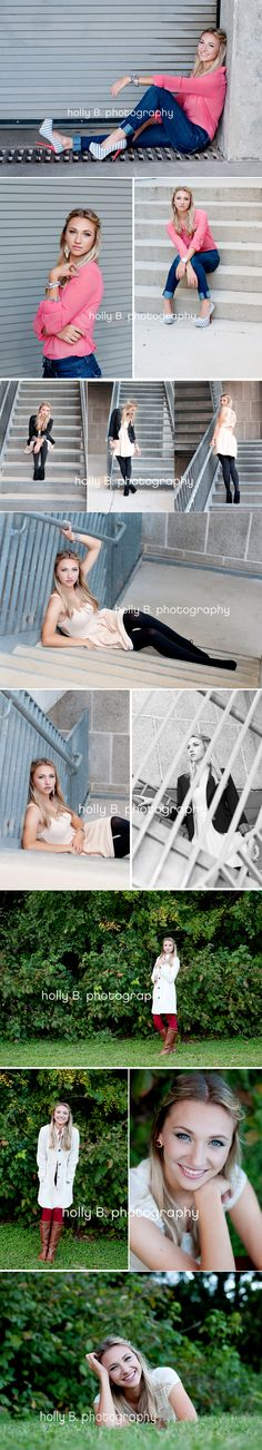 Good use of stairs for senior portraits
