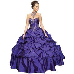Pre-owned Mori Lee Deep Purple 87022 Dress ($245) ❤ liked on Polyvore featuring dresses, deep purple, embellished dress, sweetheart neckline dress, sweetheart dress, deep purple dress and blue beaded dress