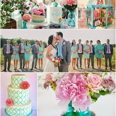 Turquoise and Pink Wedding Colour Scheme
