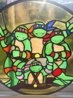 Teenage Mutant Ninja Turtles Stained Glass Sun by MoeMoments, $248.00