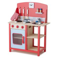 Carnaby Wooden Play Kitchen - A beautifully designed and sturdy toy kitchen, which boys as well as girls will love (just think how grateful your daughter in law will be...) And it's exclusive to GLTC!