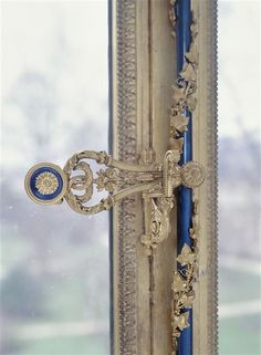 Details of a window paneling from Marie Antoinette's apartment in Fontainebleau Chateau
