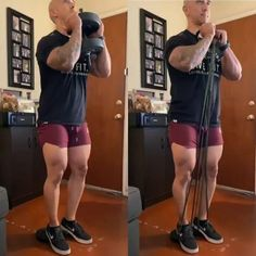 Ricky Cruz shows us how easy and similar it is to workout your legs with resistance bands rather than free weights. Resistance bands are just as effective and you can even bring them on the go to workout anywhere! 🙌