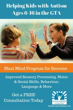 Helping kids with Autism age 6-16 in the GTA.  Get a Free Consultation