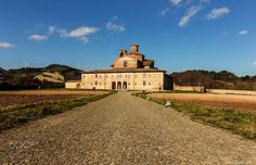Long and empty roads to painted colors - Barco Ducale in the country of Urbania, Marche, Italy