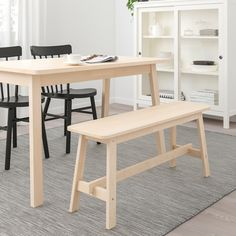 Durable and hard-wearing; meets the requirements on furniture for public use. Less risk of children hitting their head as the bench has rounded corners. Cafe Bench, Cafe Chairs, Dining Area, Dining Bench, Bar Pas Cher, Design Ikea, Berlin Apartment, Ikea Shopping, Shopping Bag