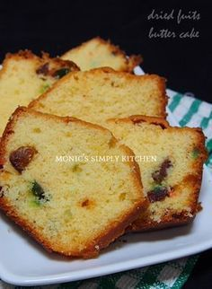 butter cake buah kering blueband cake cookie