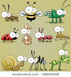 Googly Eyed Insect Bugs Roach Bee Grhopper Cricket Worm Ant
