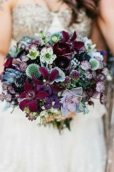 Dark purples and succulents
