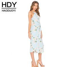 Hdy haoduoyi 2017 summer beach dress женщины холтер плеча цветочным принтом чешские vestidos симпатичные лук империя асимметричный dressкупить в магазине NEW FASHIONS наAliExpress