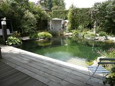 A pond in the garden where you can swim in, including how to make it yourself!