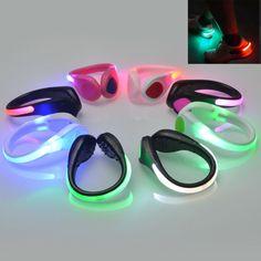 Running Sports LED Luminous Shoe Clip Light Night Safety Warning Bike Cycling   eBay