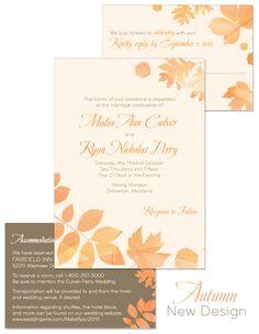 fall wedding invitation - Yahoo Image Search Results