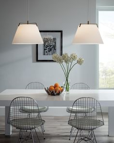 The Devin pendant light from Tech Lighting has a large hand-blown, frosted glass shade finished with tailored metal details. Available in LED lighting. Family Room Lighting, Home Office Lighting, Dining Room Lighting, Interior Lighting, Kitchen Lighting, Glass Pendant Light, Pendant Lighting, Gold Pendant, Cool Lighting