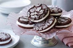 Stacey's Sparkly Chocolate Sandwich Cookies